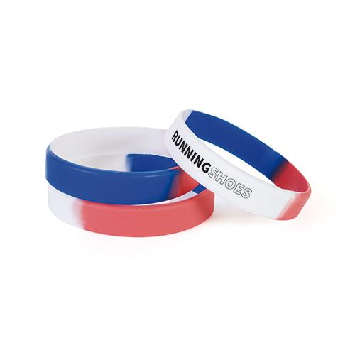 Bracelet en silicone Enfant Bleu Blanc Rouge. Agrandir l\u0027image